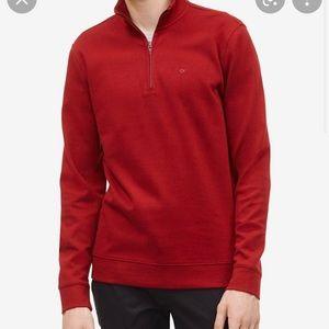 Calvin Klein Red Quarter Zip